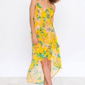Jealous Tomato Floral Wrap Dress